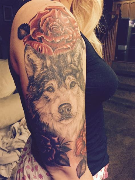 wolf and rose tattoo 315 best images about wolf inspiration on