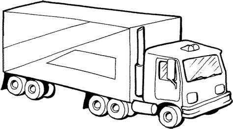 delivery truck trucks coloring pages