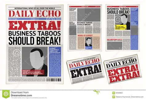 tabloid layout template vector daily newspaper template tabloid layout posting