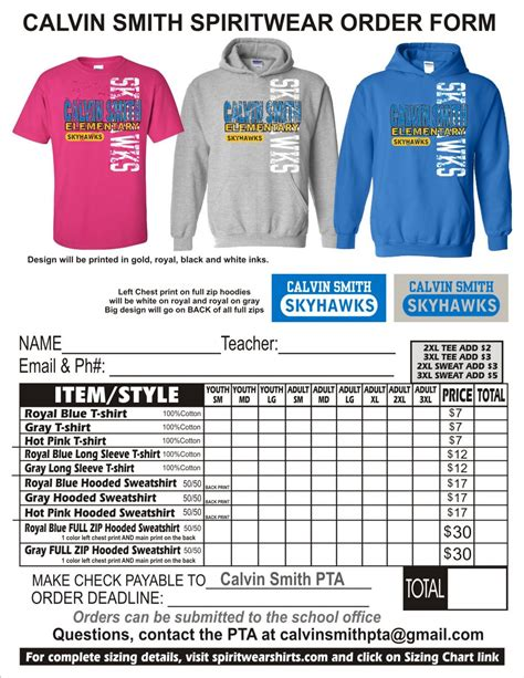 school t shirt order form template word t shirt template last chance for school shirts t