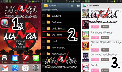 theme line android root line xline themer for android เก บ เปล ยน theme line