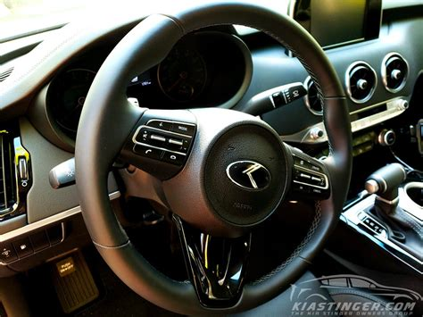 kia steering wheel oem style quot vintage k quot steering wheel emblem kia stinger