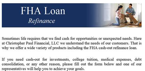 fl fha refinance christopher paul financial llc