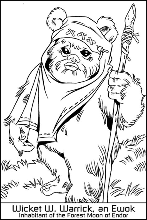 Free Lego Ewok Coloring Pages Ewok Coloring Page