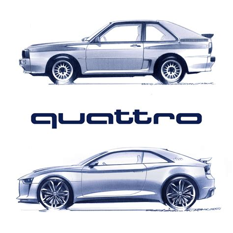 quattro sketchbook quattro sport concept in sketches audiphile
