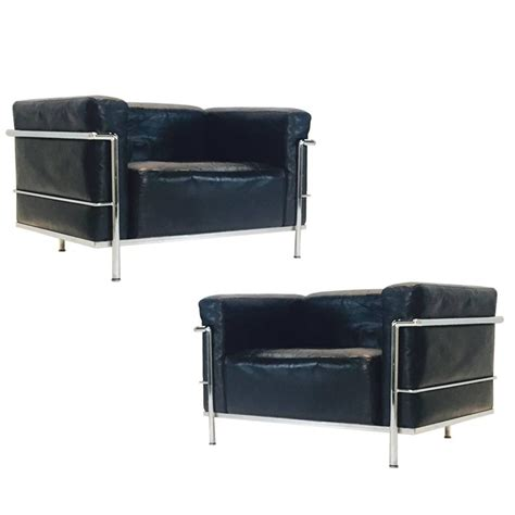 Comfort Seating Furniture by Pair Of Lc 3 Grand Comfort Lounge Chairs By Le Corbusier For Cassina For Sale At 1stdibs