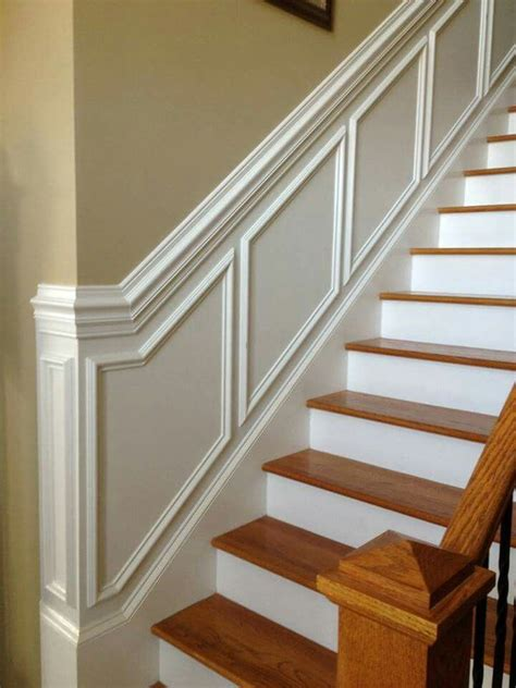 wainscotting stairs wainscoting up the stairs home updates in 2019