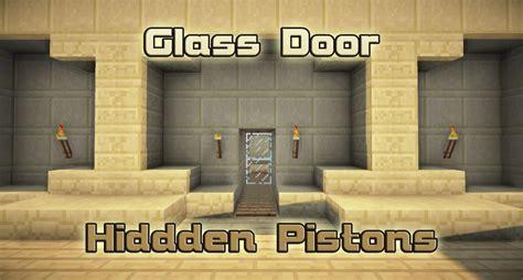 Minecraft Glass Door by Glass Door Pistons Minecraft Project