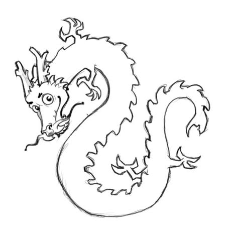 chinese dragon coloring pages easy simple chinese dragon outline clipart best