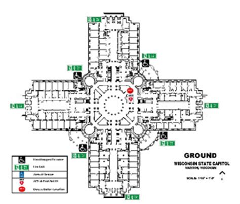 state capitol map visit security information