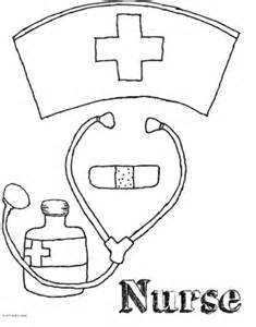 nurse coloring pages getcoloringpages