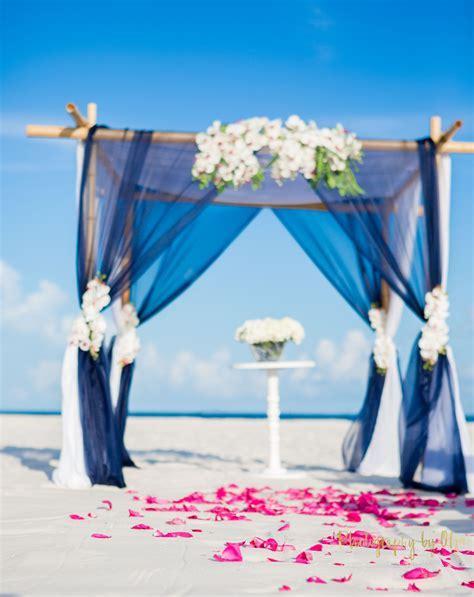 Navy Wedding Arch, Nautical Beach Wedding   Wedding Arch