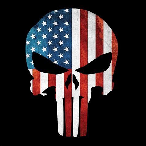 Punisher American Flag Vinyl Sticker