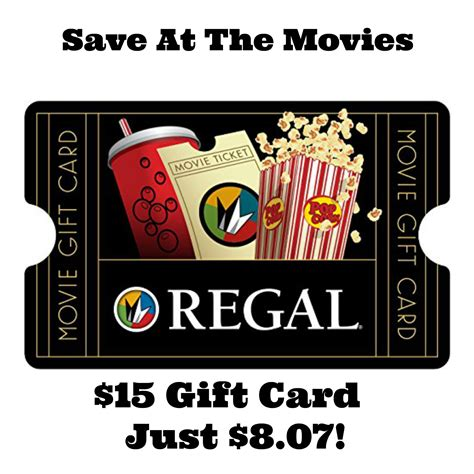 Regal Cinemas Gift Card Promo Code - great deals on gift cards 15 regal cinemas gift card just 8 07 more
