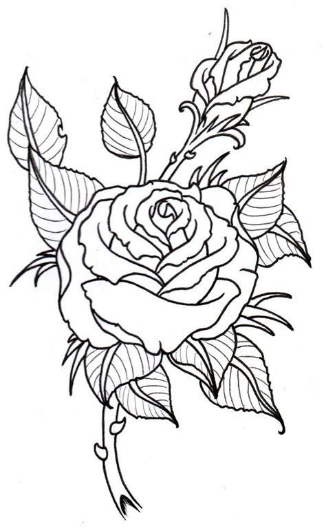 tattoo design outlines tatoo art rose rose outline by vikingtattoo on