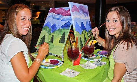 groupon paint nite painting event at local bar paint nite groupon