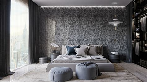 stanza da letto moderna stanza da letto moderna con parete di design speciale