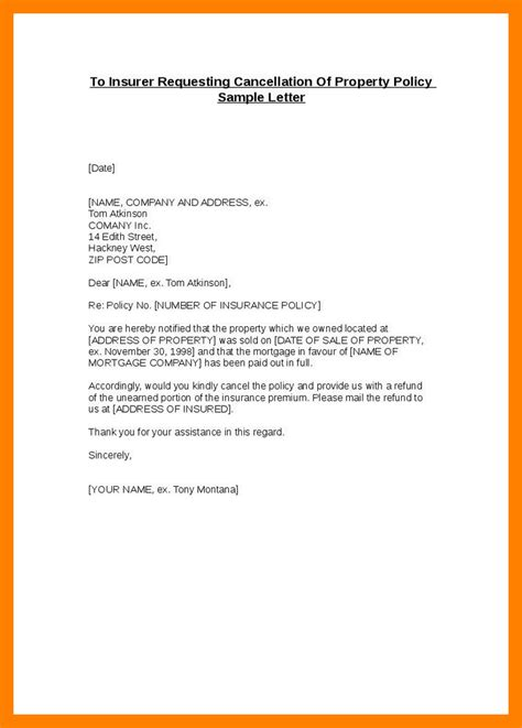 Insurance Cancellation Letter To Insured 5 Insurance Cancel Letter Students Resume