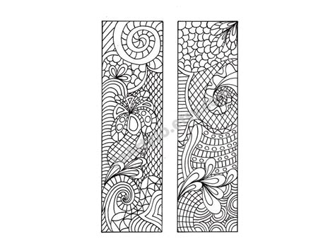 zentangle inspired bookmarks printable coloring digital diy bookmarks zentangle inspired bookmarks to print and