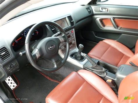 subaru legacy custom interior brick red interior 2006 subaru legacy 2 5 gt limited sedan