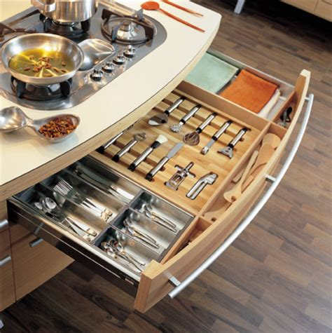 Kitchen Cabinet Drawer Accessories by Snaidero Fitted Drawer Accessories