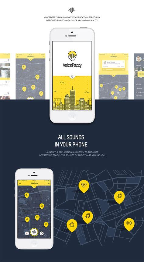 voice mobile app voice pozzy on app design served behance ui ux design