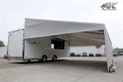 trailer awnings prices product display trailer arrow tent awning mo great dane