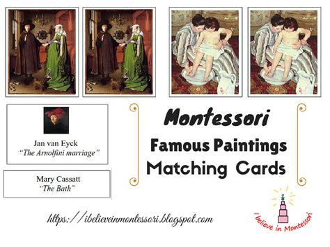 montessori card set template i believe in montessori appreciation level 2