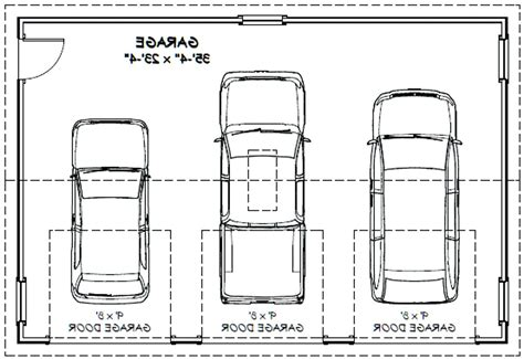 dimensions of a 3 car garage sized 3 car garage plans 1292 1 38 x 34 by3 dimensions nz size square venidami us