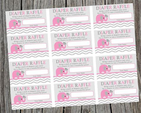 printable diaper raffle tickets elephant instant download printable diaper raffle tickets pink