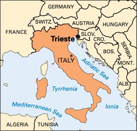 map of trieste italy trieste location encyclopedia children s
