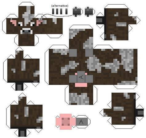 Minecraft Papercraft Animal Mobs - 1000 images about minecraft on