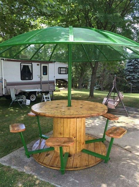 Diy Wood Picnic Tables Local Best 25 Wire Spool Tables Ideas On