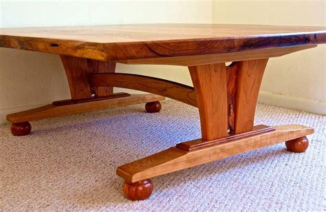 Mesquite Coffee Table Custom Handmade Live Edge Mesquite Cherry Coffee Table