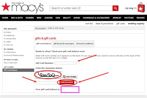 How To Check Gift Card Balance - macy gift card balance online infocard co