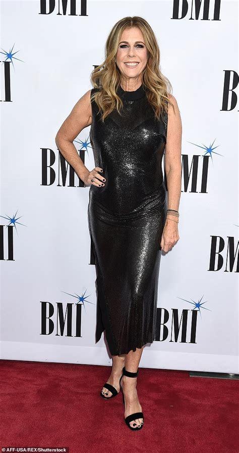 rita wilson album rita wilson dazzles in sequin black dress as she attends
