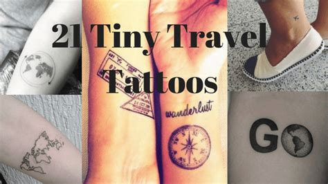 21 tiny travel tattoos for women a ginger away