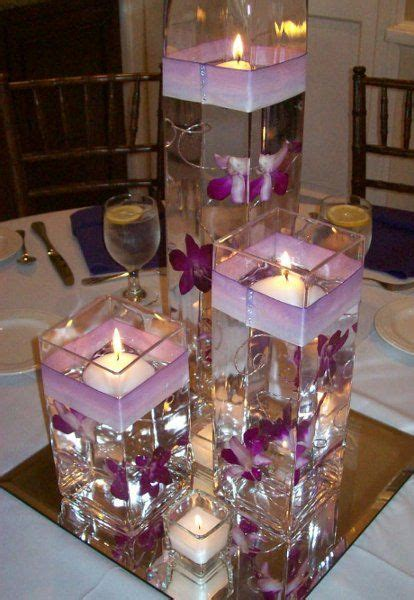 Artificial Orchid In Vase Anyone Did Floating Water Candle With Vases As Their