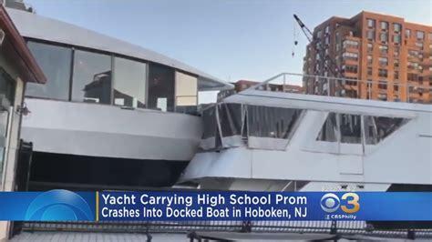 boat crash prom yacht hosting high school prom crashes into docked boat in