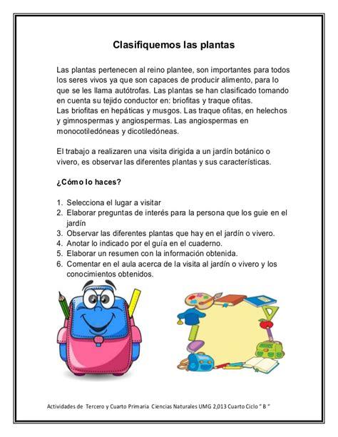actividades cuarto de primaria actividades de tercero y cuarto primaria