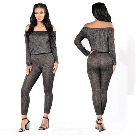 aliexpress jumpsuit aliexpress com buy off the shoulder jumpsuit long