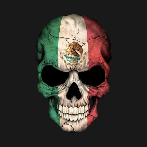 mexican flag skull mexico flag t shirt teepublic