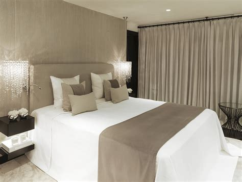 taupe bedroom walls soft taupe and white with black accents contemporary