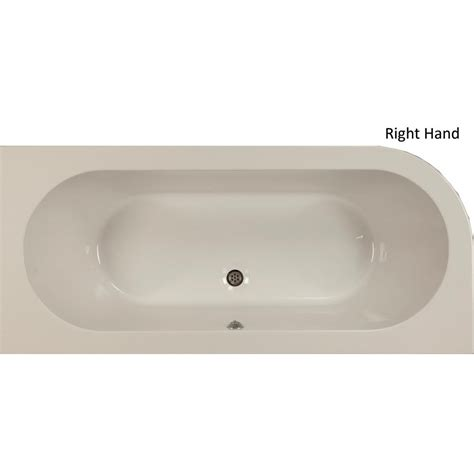 Henley Plumbing Supplies by Plexicor Henley Offset Skirted Bath 1700 X 750mm