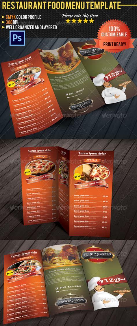 tri fold restaurant food menu template by pmvch graphicriver