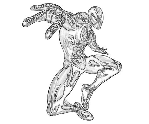 free iron spider man coloring pages