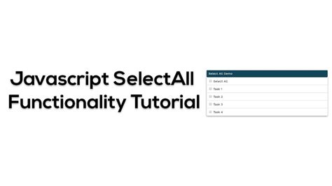 Html Javascript Tutorial Youtube | html css javascript selectall checkbox jquery tutorial