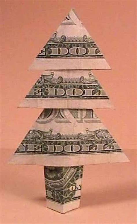 Origami Dollar Bill Tree - 21 origami money ideas gifts in the form of
