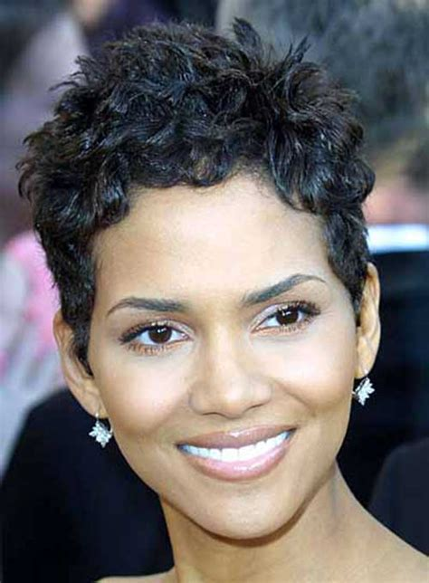 african up hair dos for an oval face 20 best halle berry short curly hair short hairstyles
