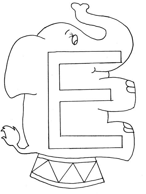 preschool letter e coloring pages coloring pages
